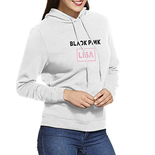AKKUI Sudaderas Hombre Sudaderas con Capucha LIHEHEN Woman Black-Pink-Lisa Trendy Sweater