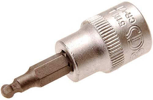 Lot de 5 C2071 Aerzetix Douille carr/é 1//4 Embout de vissage Allen 6 pans 3mm