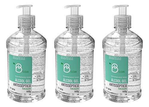 Álcool Gel 70º B Clean 500mL / 440g Pump (Kit com 3)