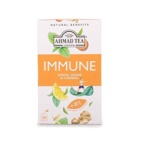 Ahmad Tea Lemon, Ginger & Turmeric 'Immune' Infusion - 20 Teabags, 68 g