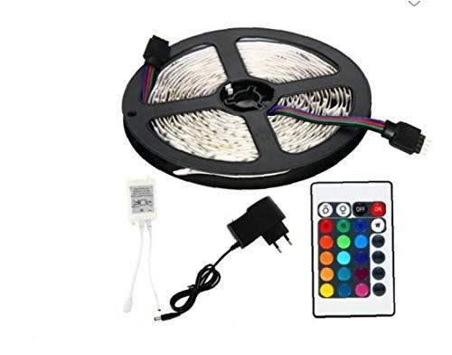 Las tiras de luz 5M cambio de color de cuerda luces LED RGB flexible con una controladora de IR para la decoración de interior y exterior