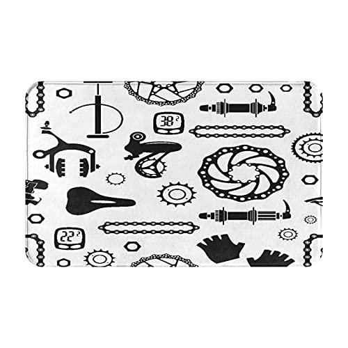 Tappeti antiscivolo da bagno,modello di biciclette da bicicletta con ruote in alluminio per bici da ciclismo,reggiseno nero,tappetino da bagno in peluche lavabile extra morbido,tappetini da bagno