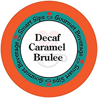 Smart Sips, Decaf Caramel Brulee Flavored Coffee, 24 Count, Compatible With All Keurig K-cup Machines