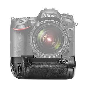 Neewer® Reemplazo de empuñadura de batería Vertical para MB-D15Funciona con EN-EL15batería o 6Piezas Pilas AA para Nikon D7100D7200Cámara réflex Digital