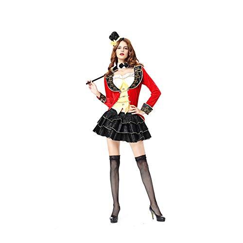 KAKAFASHION Disfraz de Halloween para fiesta de cumpleaos o escenario de rendimiento unisex, juego de rol, cosplay mago amantes del circo