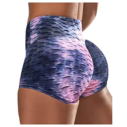 Pantalones de yoga con estampado de teñido anudado para mujer, pantalones de yoga, pantalones deportivos para correr, yoga, pantalones deportivos