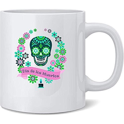 Keramische mok Dia De Los Muertos Suiker Schedel Horror Kostuum Plezier Nieuwigheid Keramische Theekop Koffiemok Nieuwigheid Gift 330Ml