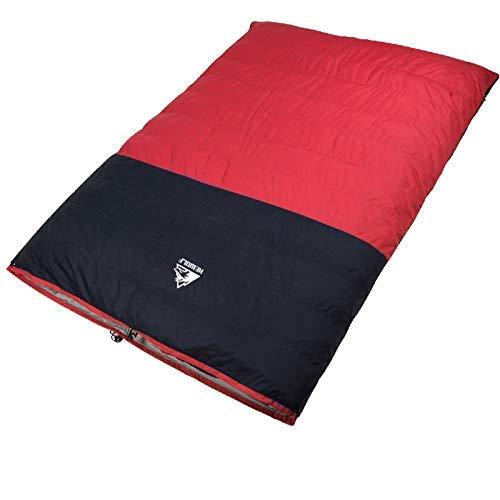 A/M Isomatte JRC Hewolf 1524 Außen Trennbare verdickte Doppel Daunen- Schlafsack for Erwachsene, zufällige Farbe Lieferung, Größe: 190x150cm (blau) Aufblasbare Camping Isomatte (Color : Red)