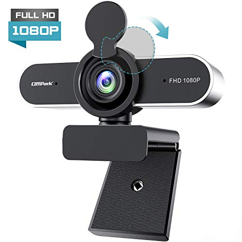 Campark Webcam per PC Full HD 1080P Webcam con Microfono USB 2.0 Webcamera con Clip Regolabile per Videochiamata, Studi, Conferenze, Registrazione e Giochi