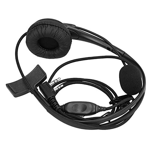 Auriculares con intercomunicador, Orejeras de esponja de alta elasticidad Auricular Walkie Talkie Diadema ajustable para
