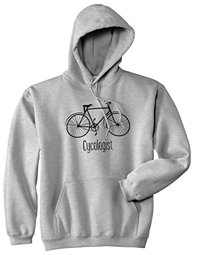 Crazy Dog T-Shirts Cycologist Funny Psychology Biking Cyclist Pun Biker Doctor Unisex Hoodie (Heather Grey) - M