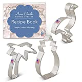 Ann Clark Cookie Cutters 3-Piece Tropical Hawaiian Cookie Cutter Set with Recipe Booklet, Pineapple, Palm Tree