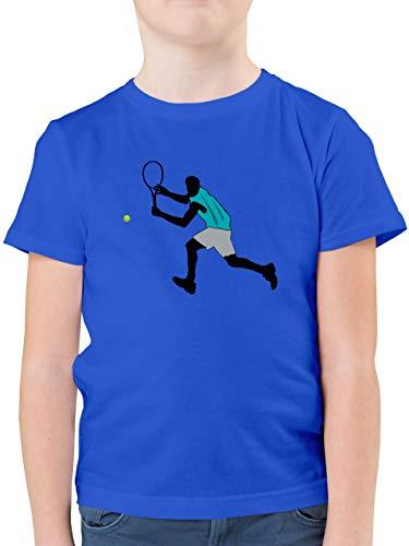 Sport Kind - Tennis Squash Rückhand - 128 (7/8 Jahre) - Royalblau - Squash - F130K - Kinder Tshirts und T-Shirt für Jungen