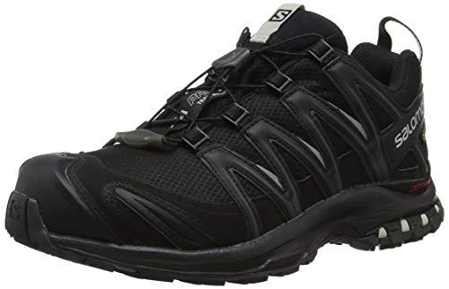 Salomon XA Pro 3D GTX W, Zapatillas de Trail Running Mujer, Negro (Black/Black/Mineral Grey), 39 1/3 EU