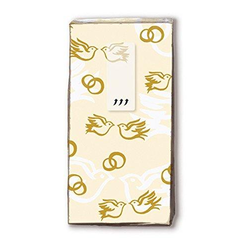 10 bedrukte zakdoeken bruiloft goud 21 x 21 cm