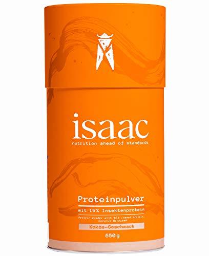 Protein Pulver mit Insektenprotein isaac nutrition - 650g Kokos - Hochwertiges, Laktosefreies, Nachhaltiges, Natürliches Eiweißpulver, 75% Eiweiss