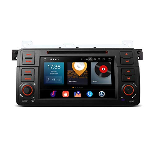 "XTRONS 7"" Android 10.0 4GB RAM 64GB ROM Autoradio mit Touch Screen Octa Core DVD Player unterstützt 4G WiFi Bluetooth DAB OBD2 CAR Auto Play TPMS Musik Streaming FÜR BMW E46"