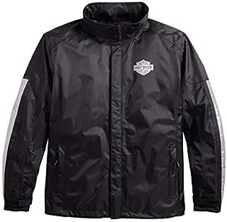 Harley-Davidson Official Harley-Davidson Men's Rain Jacket, Black