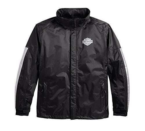 Harley-Davidson Harley-Davidson Men's Rain Jacket, Black
