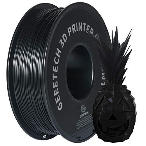 GEEETECH ABS Filamento 1,75 mm nero, filamento stampante 3d 1 kg 1 bobina