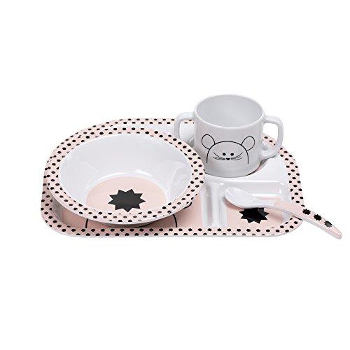 LÄSSIG Coffret repas mélamine/Dish Set Little Chums Mouse