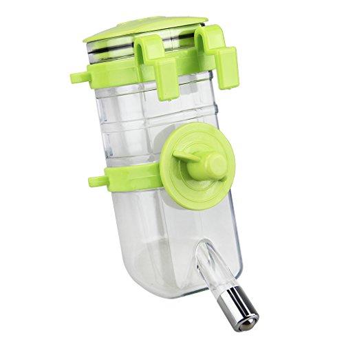 FakeFace Wasserspender Trinkflasche unterwegs Tierzubehör 400ML Wasser Flasche zum Aufhängen für Hunde Katze Welpen Kaninchen Haustier