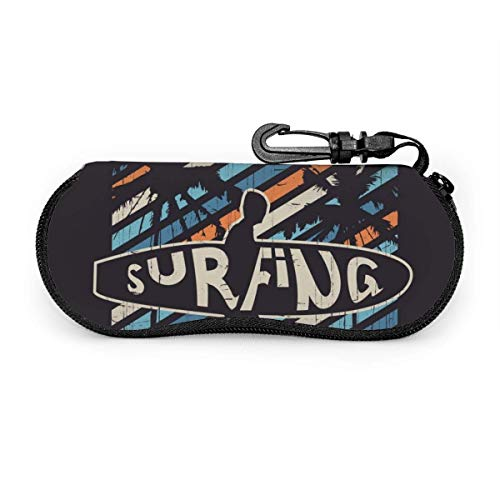 Sonnenbrillen Soft Case Ultra Light Vector Illustration zum Thema Surfen und Surfen in California Zipper Eyeglass Case