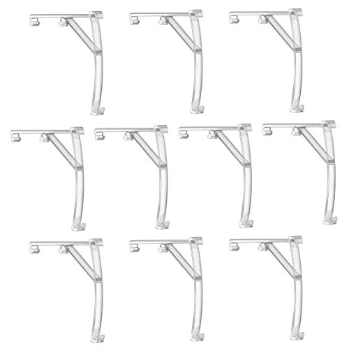 Magicfour Valance Clips, 10 Pack 3.5 Inch Plastic Clear Vertical Blinds...