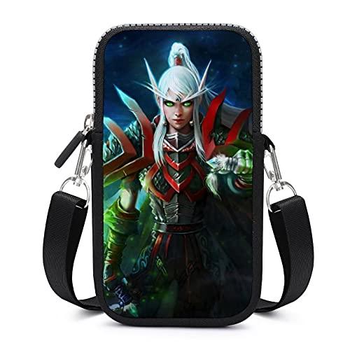 Blood Elf World Warcraft - Bolso bandolera para teléfono para mujer