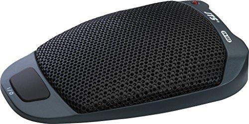 JTS CM-602 Elektrische grensvlak-microfoon, podiummicrofoon met semi-nierkarakteristiek, spraakversterker met kunststof behuizing in zwart