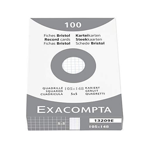 EXCACOMPTA Karteikarten, kariert/13209E, weiß, A6, Inh. 100