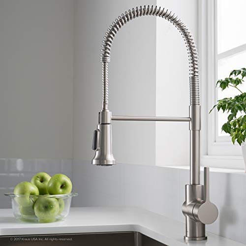 Kraus KPF-1690SFS Britt Pre-Rinse/Commercial Kitchen Faucet with Dual Function Sprayhead in all-Brite Finish, Spot Free Stainless Steel