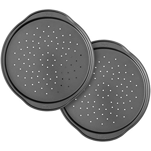 Wilton Perfect Results NonStick 14Inch Pizza Crisper Pans with Holes Set of 2