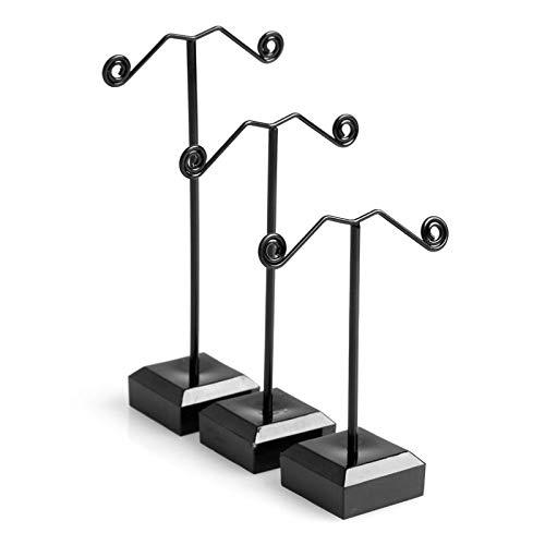 Organizzatore di gioielli in metallo per appendere orecchini titolare espositore espositore vetrina gioielli rack 3 pezzi