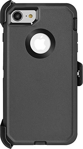 Krichit Rugged Series Case Triple-Layer Protection Defense for iPhone 8 Case, Rugged Belt Clip Holster, Rugged for iPhone 7 (Not Plus)