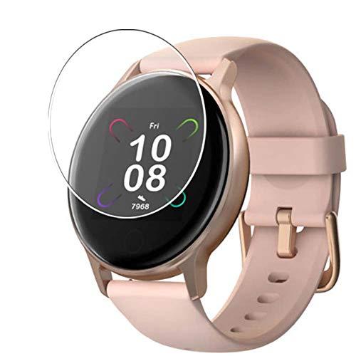 Vaxson Protector de Pantalla de Cristal Templado, compatible con UMIDIGI Uwatch 3S Smart Watch, 3 Unidades 9H Film Screen Protector