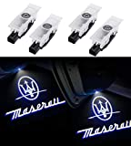 U/D Car Door Logo Projector Lights Replacement for Maserati Levante 2016-2019 Ghost Lights Welcome Light Puddle Light Accessories(4-Pack)