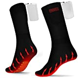 Heated Socks for Men and Women Rechargeable - Elictric Battery Thermal Heated Socks for Hunting Fishing Camping Skiing Cycling Running Washable - New Ergonomical Battery with 3 Temp Modes, 5V 2000A