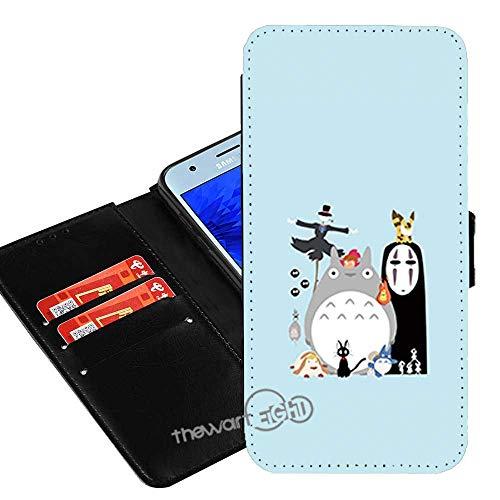 Case for Samsung Galaxy S9, My Neighbor Totoro PU Leather Wallet Folio Flip w/ID Credit Card Slot + Thewart8 Stylus Pen (#7)