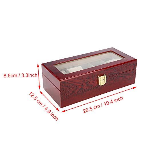 Soporte para reloj con diseño de tablero medio, 5 rejillas, para guardar relojes personales