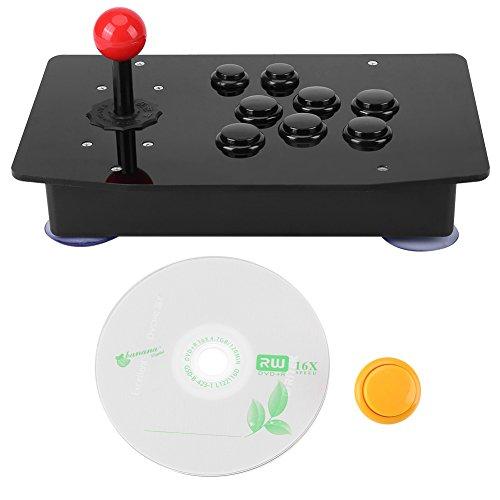 Hilitand El Controlador Arcade, el Joystick del Juego USB y Kit de Bricolaje de Botones con Mango de rotación de 360 Grados Son compatibles con Windows, Ps3, Ps4, Raspberry Pi, Android, Xbox 360