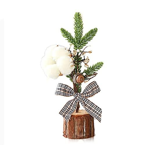 Mini árbol plantas en maceta para ventanas de escritorio decoraciones navideñas