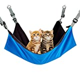 HTQ Hamaca Gato, Cama de Perca para Gato, Cuna Colgante, Adecuado para Cuatro Estaciones, Extraíble y Lavable