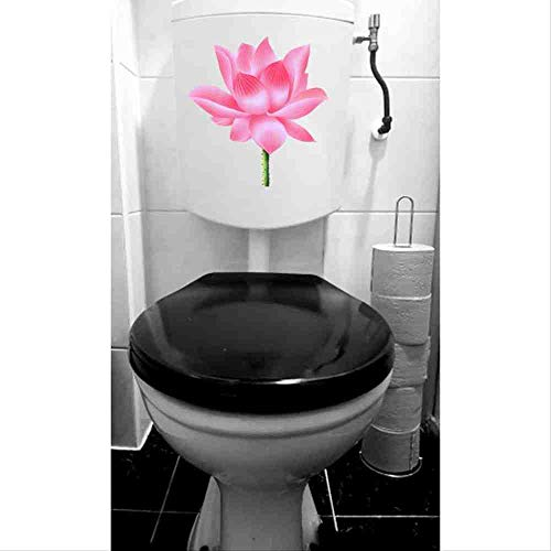 JPDP 21.8 * 23,1 cm Handbeschilderde Lotus Cartoon Muurstickers Fotobehang Creatieve Toilet Decal Decoratie