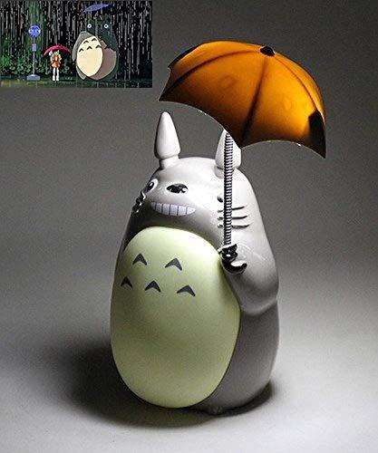 My Neighbor Totoro Anime Luz nocturna LED Verde vientre Hayao Miyazaki Anime Lámpara de mesa con carga USB para niños niñas Navidad u otras celebraciones