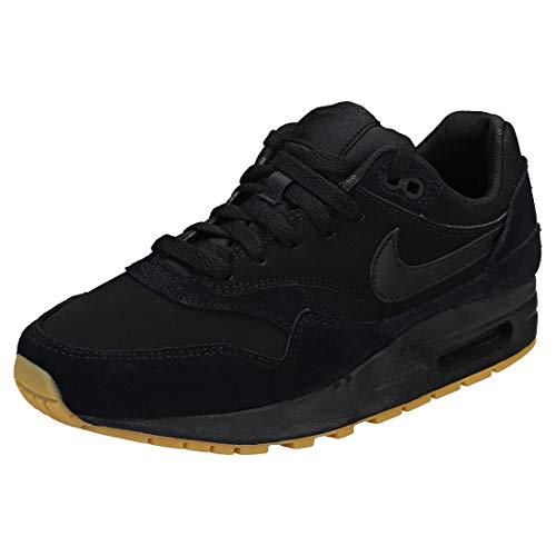 Nike Herren Air Max 1 (gs) Laufschuhe, Mehrfarbig (Black/Black-Black-Gum Light Brown 008), 38.5 EU