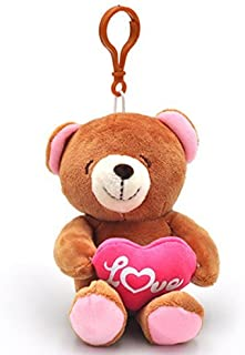 Plush Teddy Bear Hugging Heart I Love You Toys Keychains Gifts 4