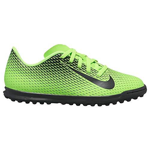 Nike - Scarpe Calcetto Nike Bravata II TF Bambino Allenamento 844440 303 Verde Fluo - 35, Verde