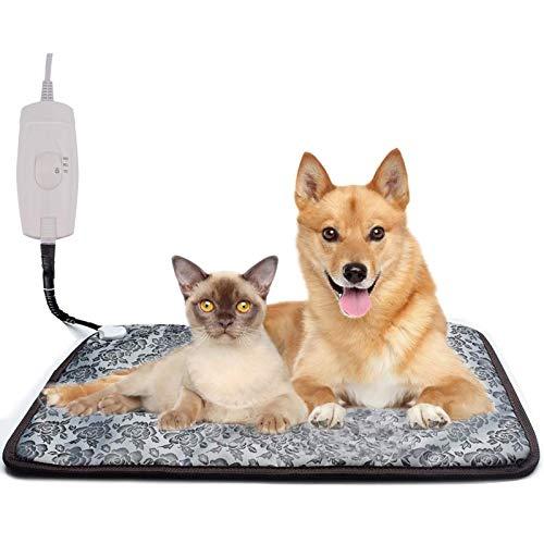 Hmpet Manta Eléctrica para Mascotas, Almohadilla Térmica para Perros y Gatos Almohadilla...