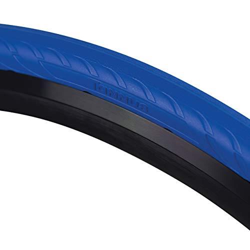 Tannus Tire Cubierta Sólida Airless 700x25c (25-622) New Slick | Neumático Macizo Sin Aire 100% Antipinchazos, Bici Carretera, Color Aqua (Azul), Dureza Regular